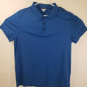 Calvin Klein Mens Blue Polo Shirt Size Large